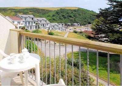 The balcony @ 14 Mount Brioni, Seaton offers superb sea views