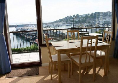 The dining area & views @ 2 Dolphin Court, Brixham