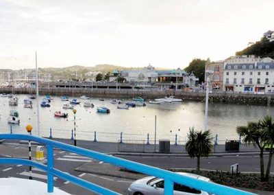 Views of the harbourside from the balcony @ 2 Queens Quay, Torquay