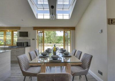 The dining area at Alvington Farm, West Alvington