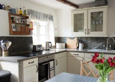 The kitchen at Bratton Mill Cottage, Bratton Fleming