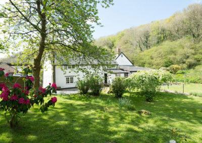 The large garden at Bratton Mill Cottage, Bratton Fleming