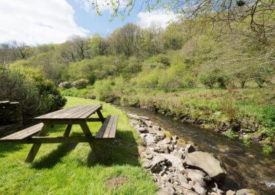 The garden & trout stream at Bratton Mill Cottage, Bratton Fleming