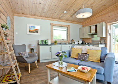 The open plan living area at Broadpath, Great Field Lodges, Braunton