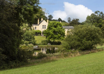 The pond & garden at Colleton East Wing, Rackenford