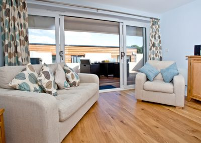 The open plan living area @ Curlew 1, The Cove, Brixham
