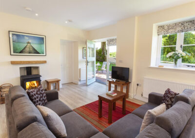 The living area at Dashel Cottage, Countisbury