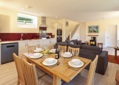 The dining area at Dashel Cottage, Countisbury