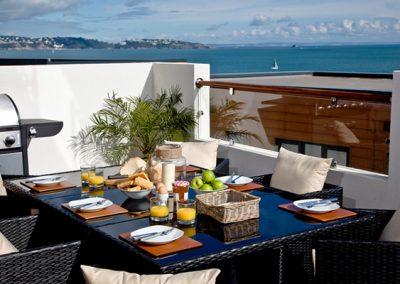 The terrace @ Dunlin 1, The Cove, Brixham