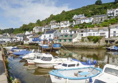The unspoilt fishing village of Polperro