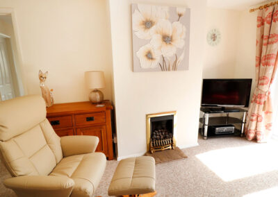 The living area at Hillview Cottage, Brixham
