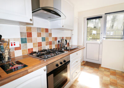 The kitchen at Hillview Cottage, Brixham