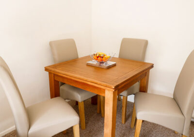 The dining area at Hillview Cottage, Brixham