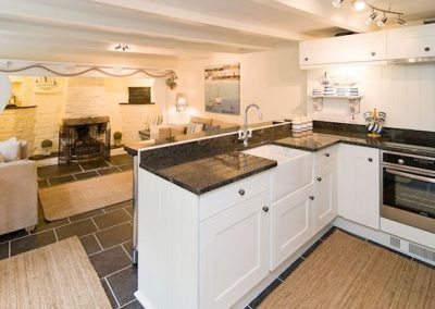 The kitchen @ Inglenook Cottage, Polperro