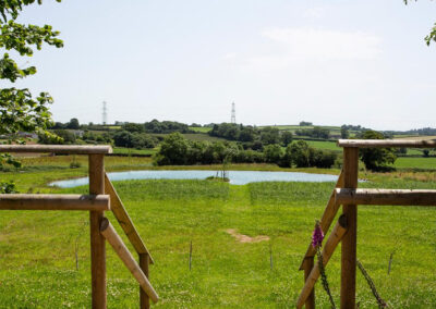 The pond at Landscove House, Landscove