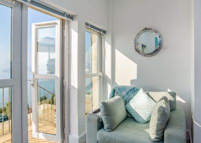 The living area at Marina Beach House, Marina Court, Torquay