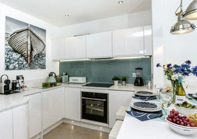 The kitchen at Marina Beach House, Marina Court, Torquay