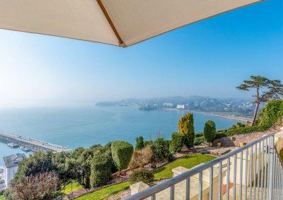 Far reaching views from the balcony at Marina Beach House, Marina Court, Torquay
