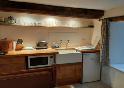 The kitchen at Old Church House, Brayford