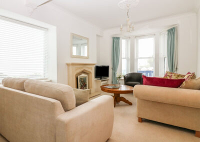 The living area at Panoramic Cottage, Brixham