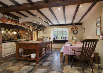 The farmhouse kitchen & dining area at Raleigh Estate, Combe Raleigh
