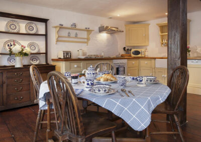 The barnhouse kitchen & dining area at Raleigh Estate, Combe Raleigh