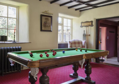 The billiard room at Raleigh Estate, Combe Raleigh