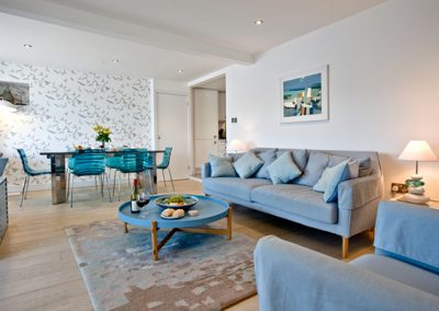 The open plan living and dining area @ The Poop Deck, 3 Harbour House, St Ives