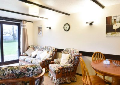 The open-plan living & dining area at The Stables, Parnacott Barn Cottages, Chilsworthy
