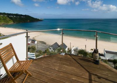The balcony from bedroom #1 @ Trencrom Villa, St Ives