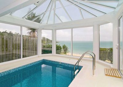 The swimming pool @ Trencrom Villa, St Ives
